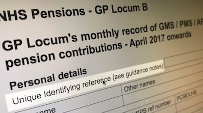 Exclusive – new unique identifying reference number now compulsory on all England & Wales locum pension forms