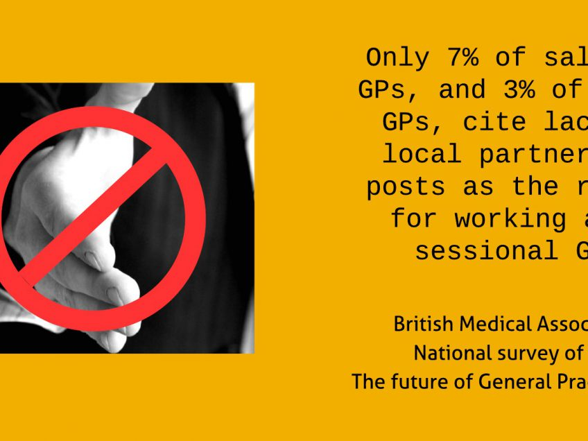 GP Partnerships snubbed by sessional GPs